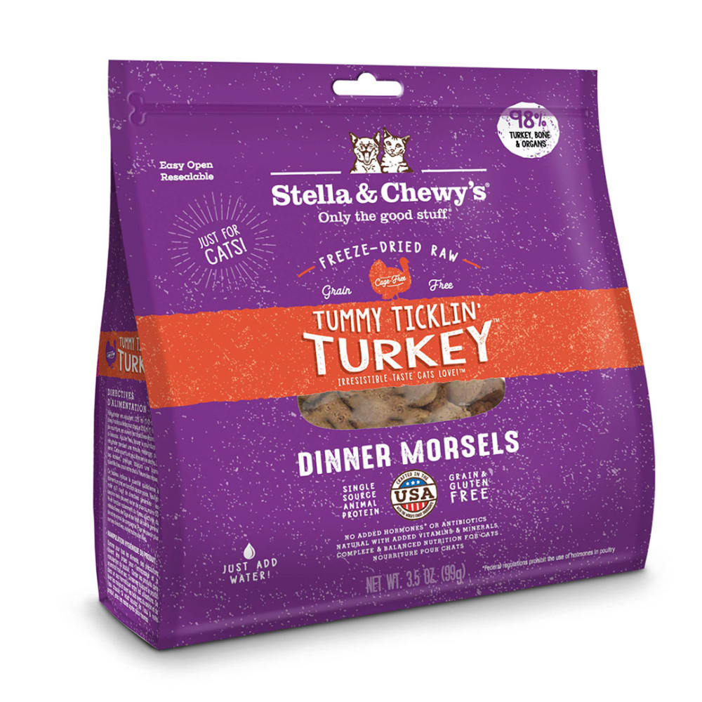 Stella & Chewy's - Tummy Ticklin' Turkey Dinner Morsels Grain-Free Freeze Dried Cat Food