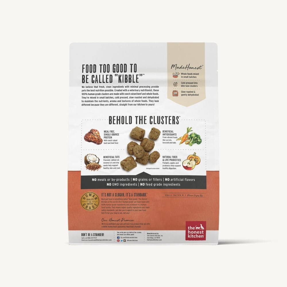 The Honest Kitchen - Whole Food Clusters Beef Recipe Grain-Free Dry Dog Food