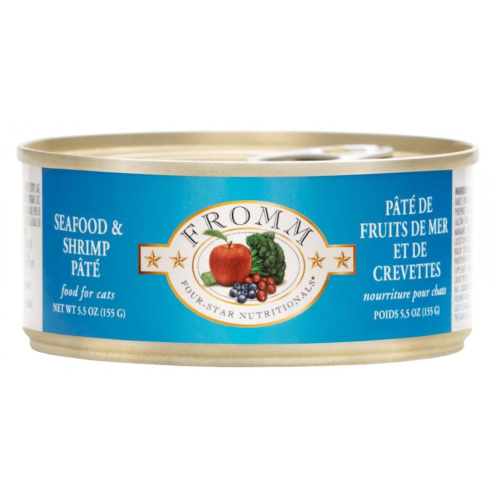 Fromm - Four-Star Seafood & Shrimp Pate Canned Cat Food, 5.5oz