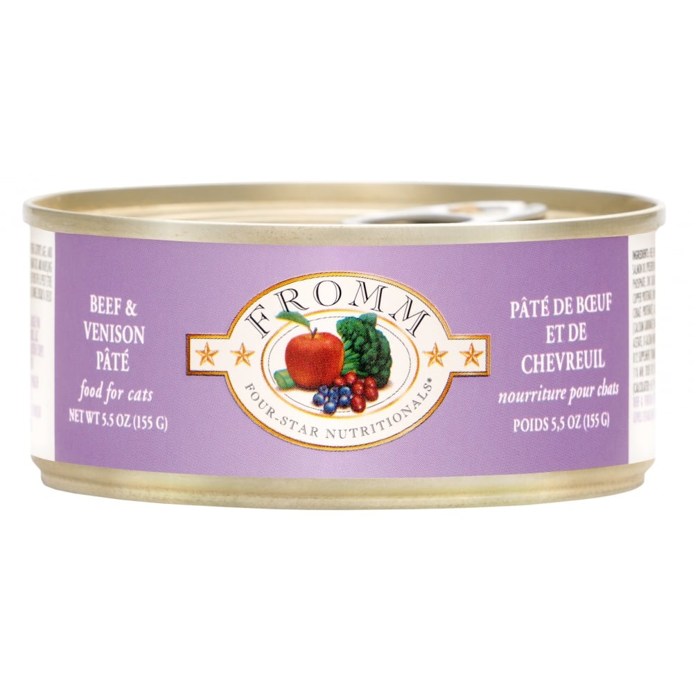 Fromm - Four-Star Beef & Venison Pate Canned Cat Food, 5.5oz