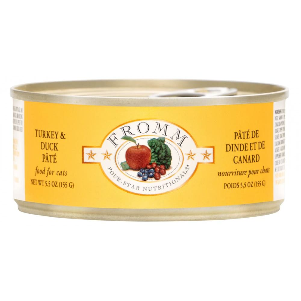 Fromm - Four-Star Turkey & Duck Pate Canned Cat Food, 5.5oz