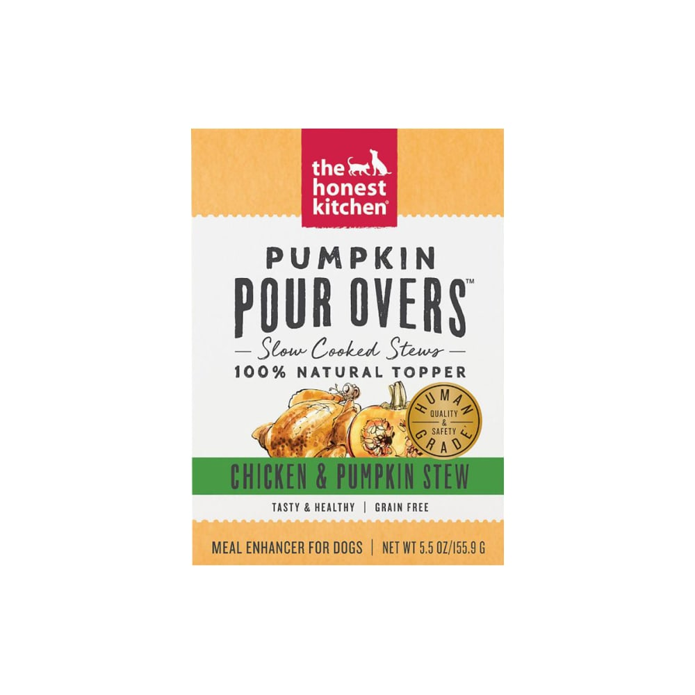 Honest Kitchen - Pumpkin Pour Overs Grain-Free Chicken & Pumpkin Stew Recipe Dog Food Topper, 5.5oz