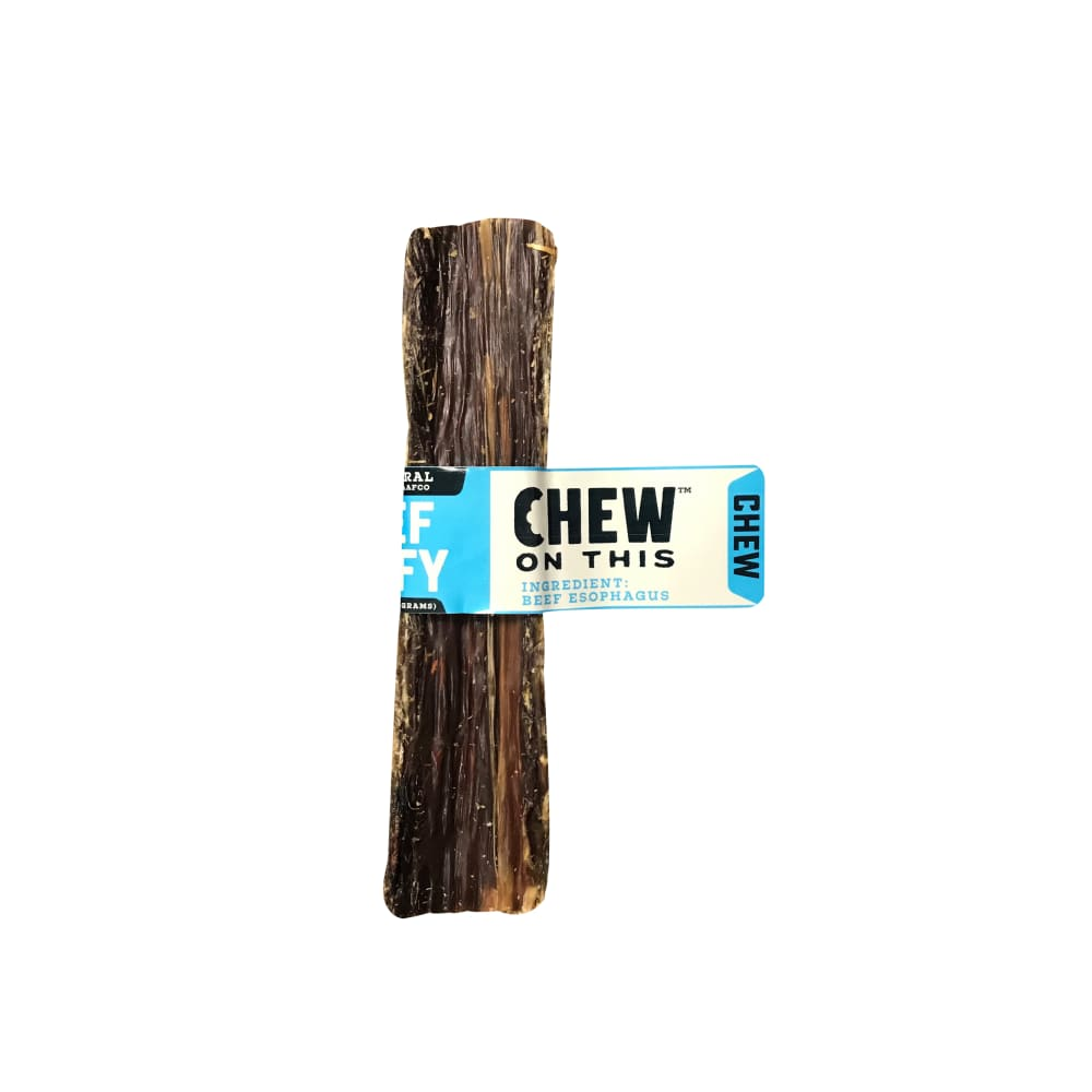 "Chew On This - 6"" Beef Taffy Dog Chew 2 Pack"