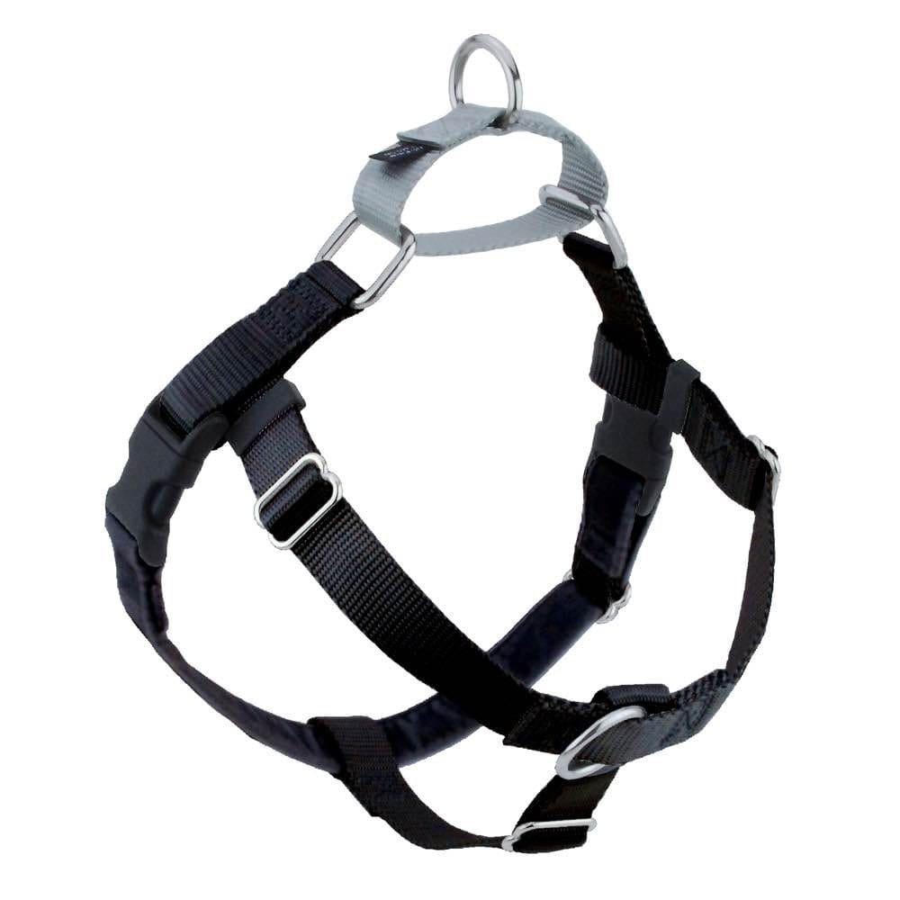 2 Hounds Design - Freedom No-Pull Harness & Lead Set Black