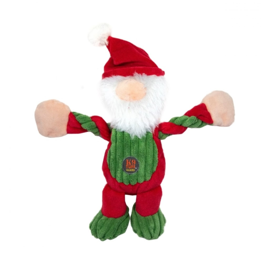 Outward Hound - Pulleez Santa Gnome Small Dog Toy