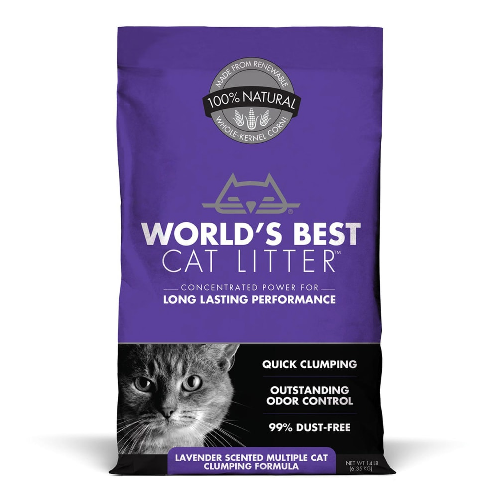 World's Best - Lavender Scented Multi Cat Clumping Litter
