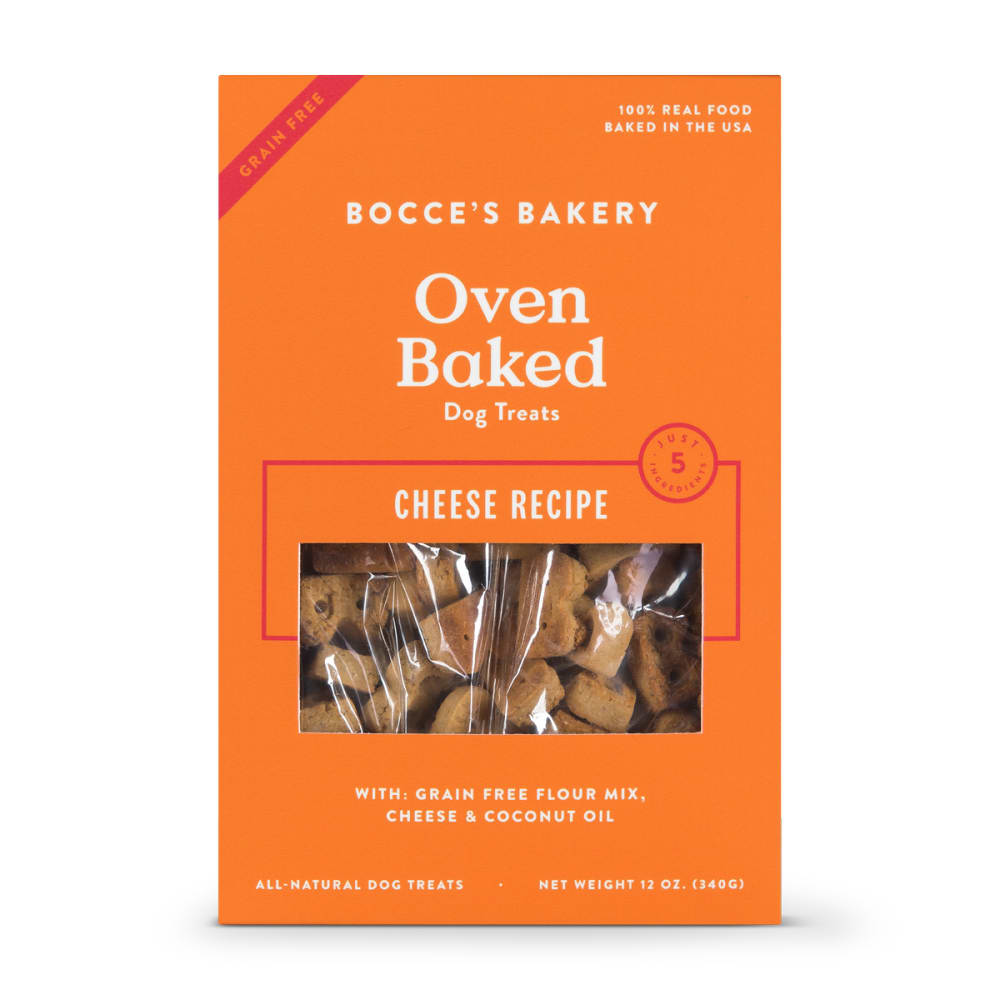 Bocce's Bakery - Oven Baked Cheese Recipe Grain-Free Dog Treats, 12oz