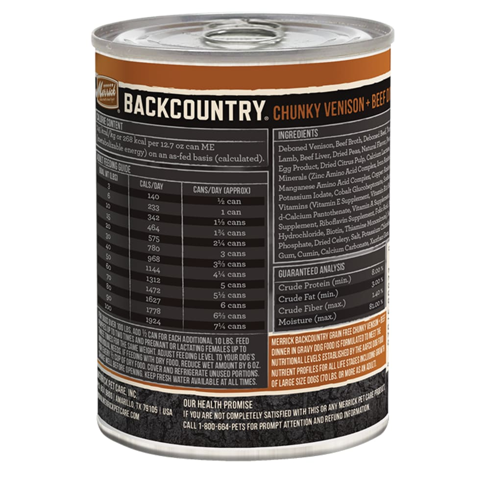 Merrick - Backcountry Chunky Venison & Beef Dinner Grain-Free Canned Dog Food