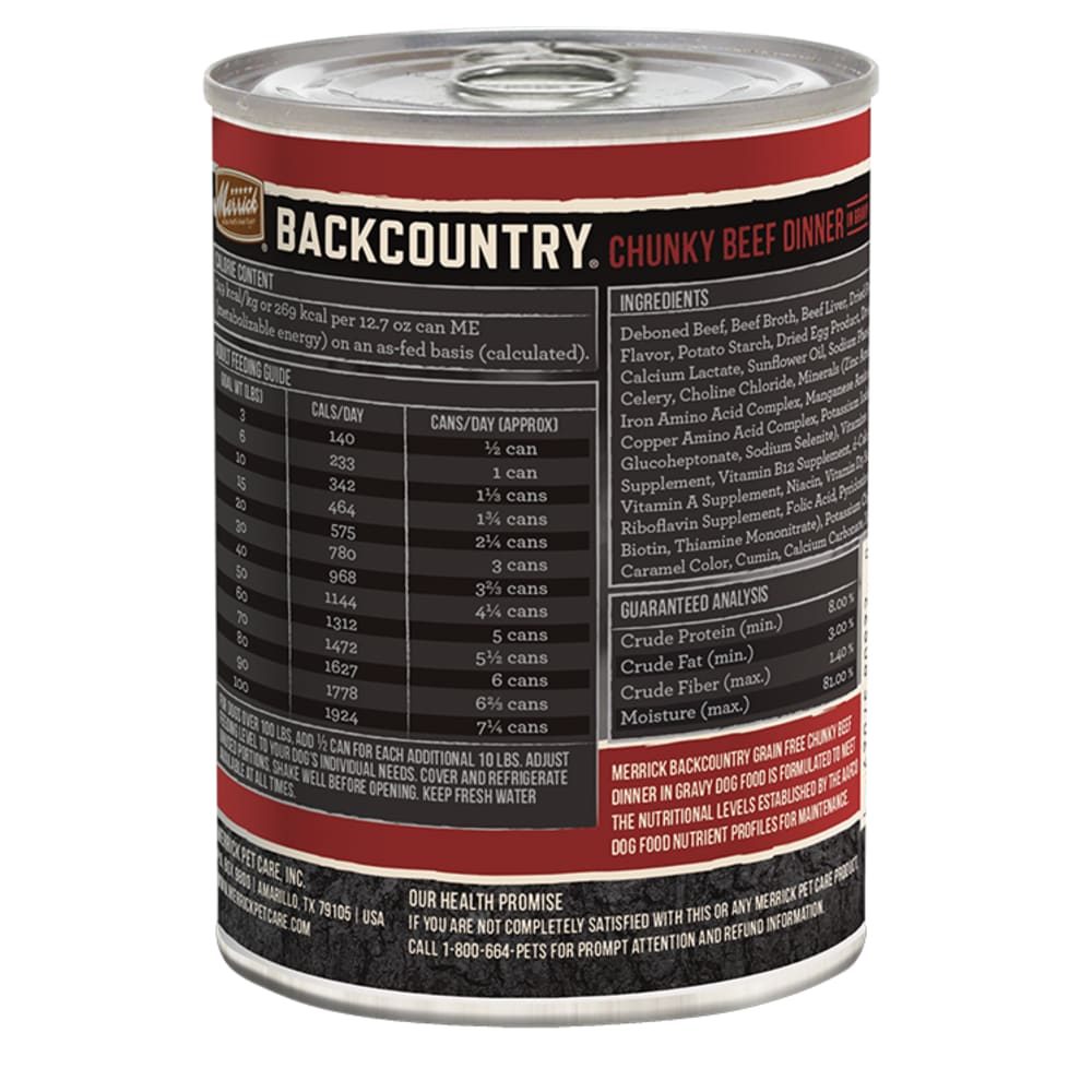 Merrick - Backcountry Chunky Beef Dinner Grain-Free Canned Dog Food