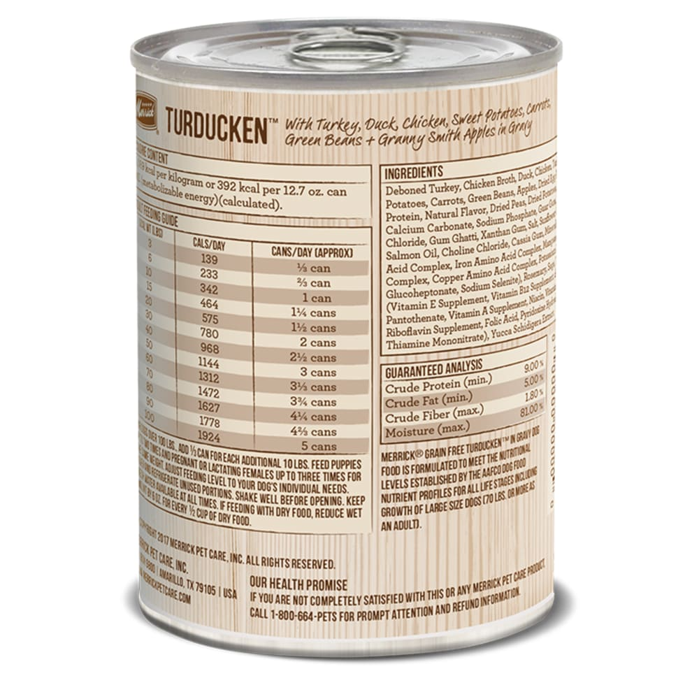 Merrick - Classic Grain-FreeTurducken Recipe Canned Dog Food, 13.2oz