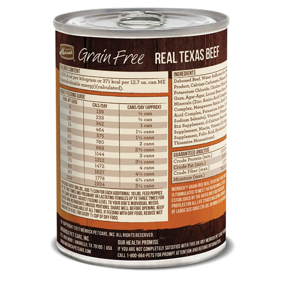 Merrick - 96% Real Texas Beef Grain-Free Canned Dog Food