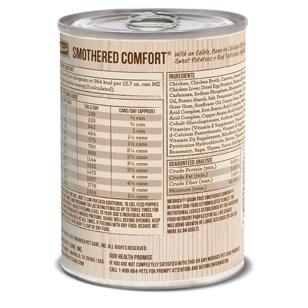 Merrick - Smothered Comfort Classic Recipe Grain-Free Canned Dog Food
