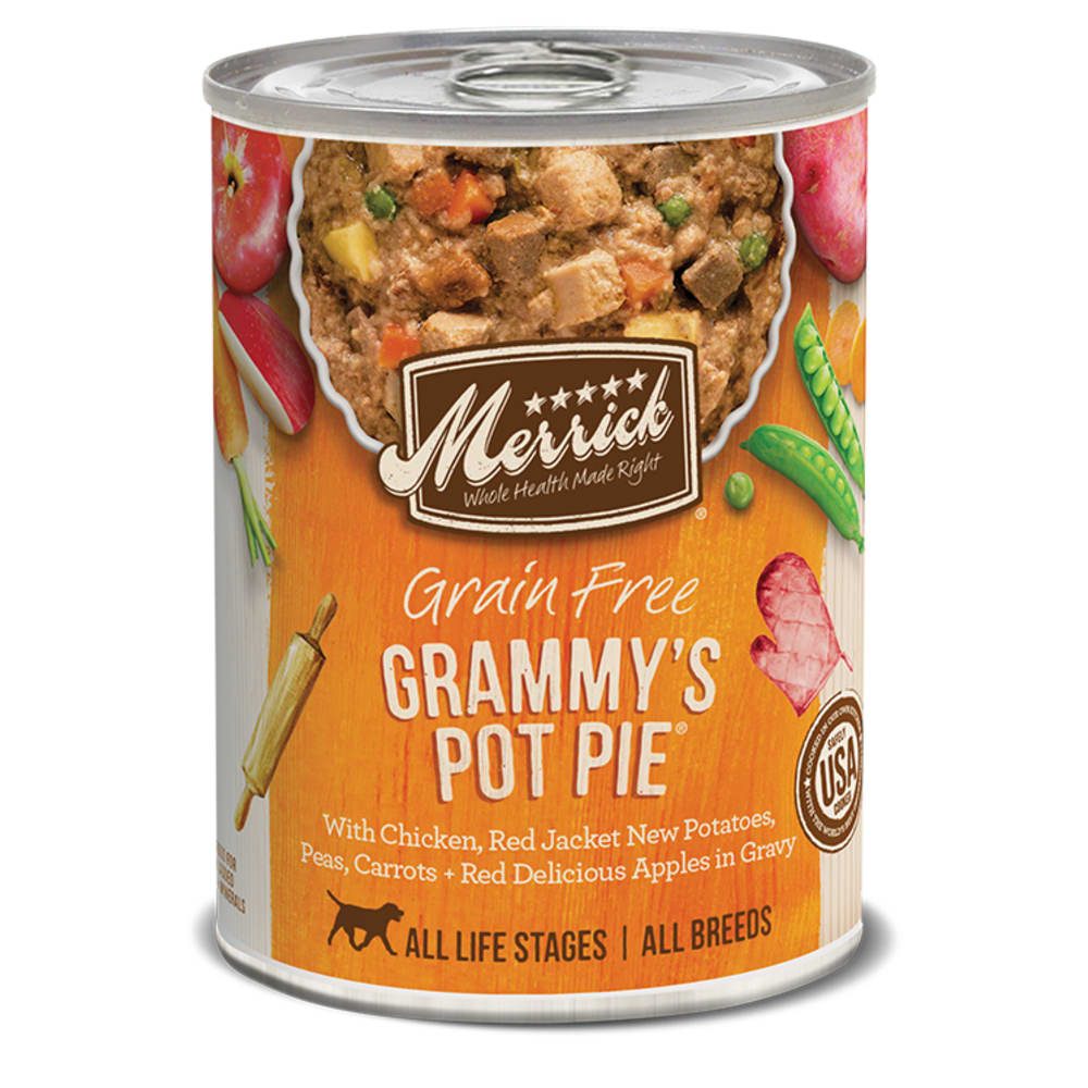 Merrick - Classic Grain- Free Grammy's Pot Pie Classic Recipe Canned Dog Food, 13.2oz