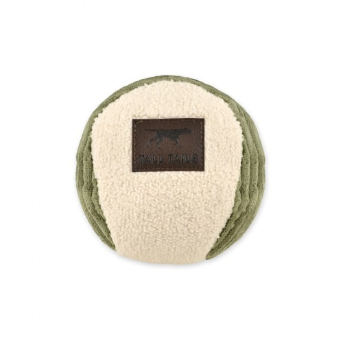Tails Tails - Sage & Cream Ball Dog Toy, 6in