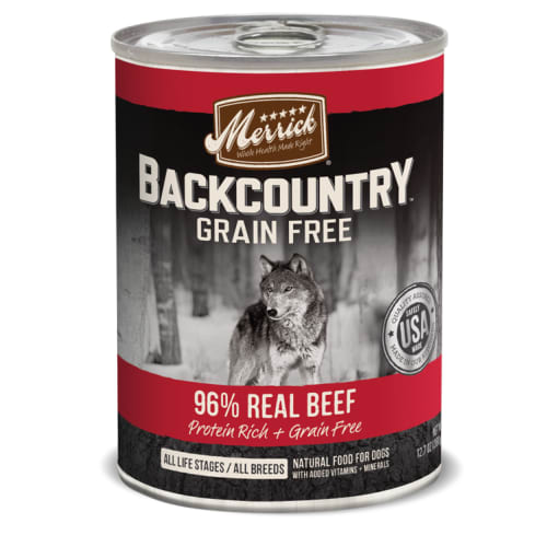 Merrick - Backcountry Grain-Free 96% Real Beef Canned Dog Food, 12.7oz