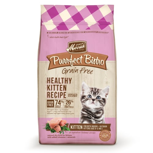 Merrick - Purrfect Bistro Healthy Kitten Recipe Grain-Free Dry Cat Food, 4lb