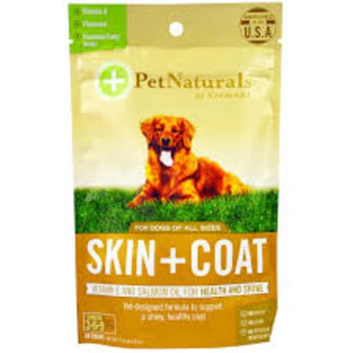 Pet Naturals - Skin & Coat Vitamin E & Salmon Oil 30 Count For All Dog Sizes Pet Supplement, 2.12oz