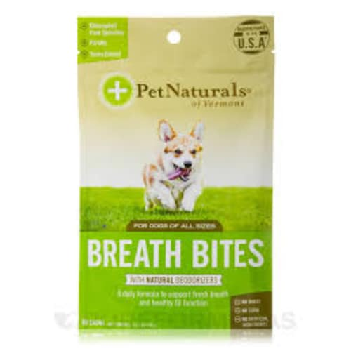 Pet Naturals - Breath Bites With Natural Deodorizers 60 Count For All Dog Sizes Pet Supplement, 3.17oz