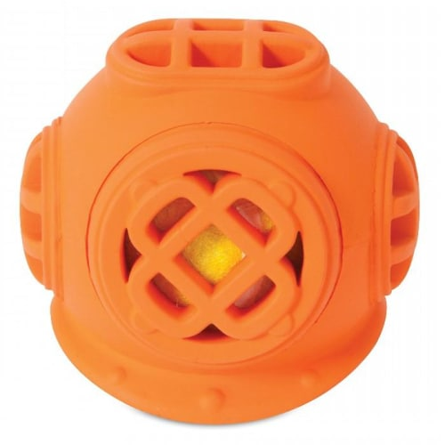 JW - Helmet Head Diver Orange Dog Toy