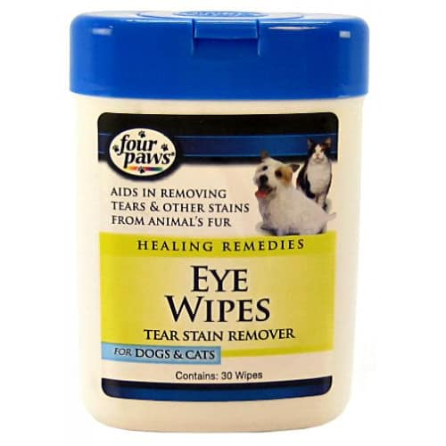 Four Paws - Healing Remedies Tear Stain Remover Eye Wipes, 25 Count