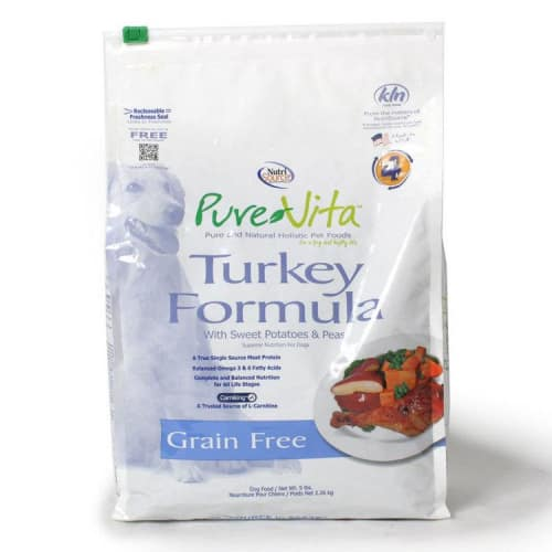 Pure Vita - Turkey & Sweet Potato Entree Grain-Free Dry Dog Food