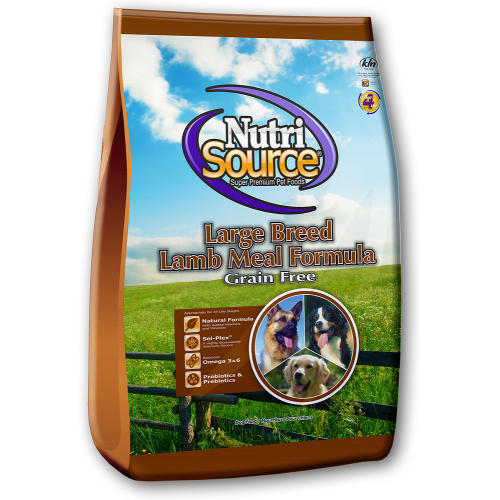 NutriSource - Large Breed Lamb Meal & Peas Grain-Free Dry Dog Food, 30lb