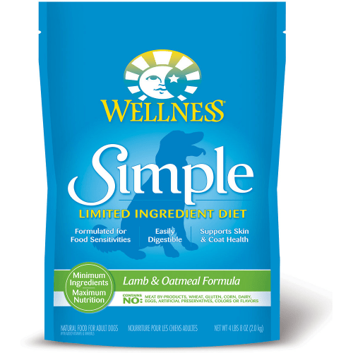 Wellness - Simple Limited Ingredient Lamb & Oatmeal Formula Grain-Free Dry Dog Food, 26lb