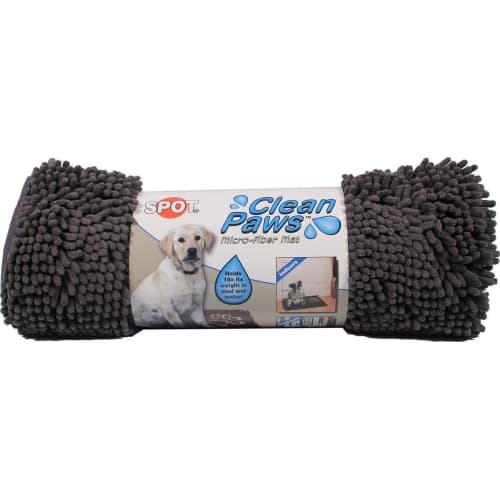"Spot - Clean Paws Microfiber Indoor/Outdoor Mat 31"" X 20"" In Gray"