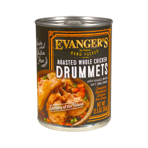 Evanger's - Roasted Whole Chicken Drummets Grain-Free Canned Dog Food