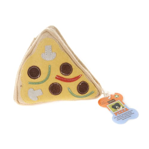 Aussie Naturals - 100% Natural Eco-Friendly Pizza With Squeaker Dog Toy