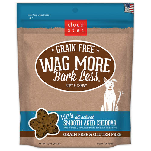 Cloud Star - Wag More Bark Less Soft & Chewy Smooth Aged Cheddar Grain-Free Dog Treats, 5oz