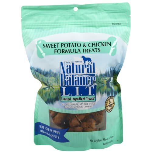 Natural Balance - Sweet Potato & Chicken Formula Limited Ingredient Grain-Free Dog Treats, 14oz