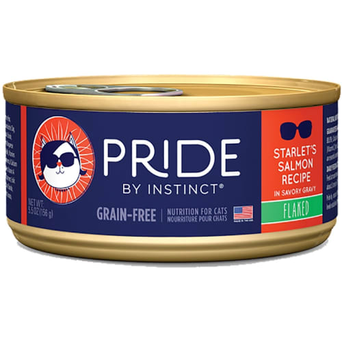 Nature's Variety Instinct - PRIDE Scarlet's Salmon Recipe In Savory Gravy Flaked Grain-Free Canned Cat Food