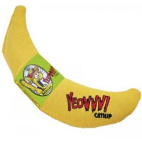 Yeowww! - Catnip Banana Cat Toy, 6in