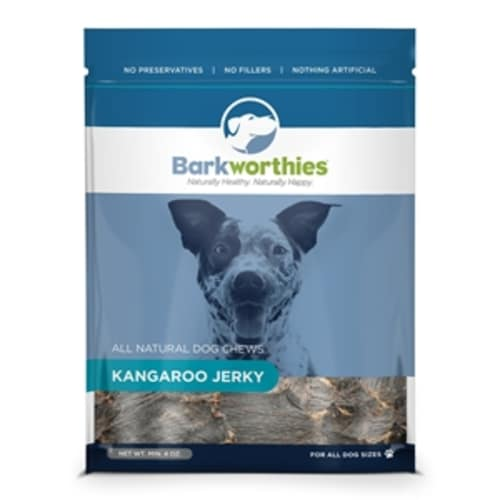 Barkworthies - All Natural Kangaroo Jerky Grain-Free Dog Chew, 4oz