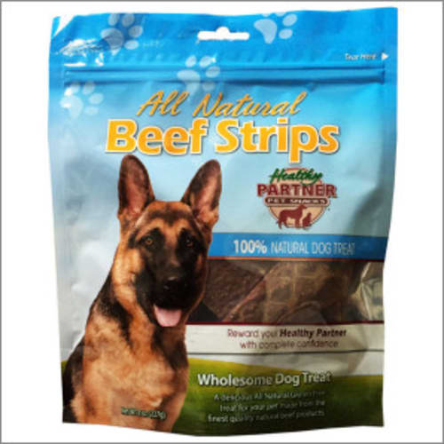 Healthy Partner - All Natural Beef Strips Grain-Free Dog Treat, 8oz