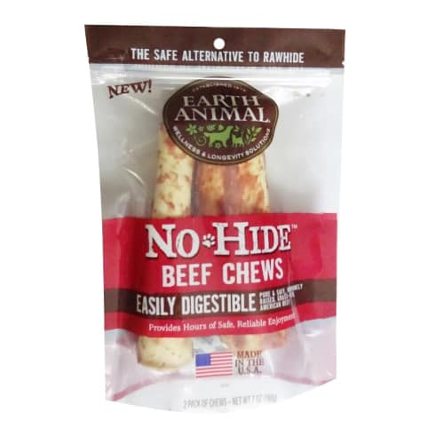 Earth Animal - No-Hide Easily Digestible Beef Dog Chew 2 Pack