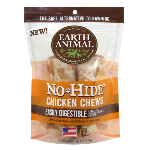 Earth Animal - No-Hide Easily Digestible Chicken Dog Chew 2 Pack