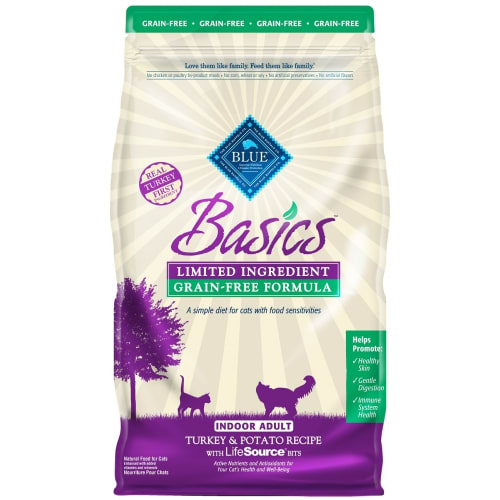 Blue Buffalo - Basics Limited Ingredient Turkey & Potato Recipe Grain-Free Dry Cat Food, 11lb