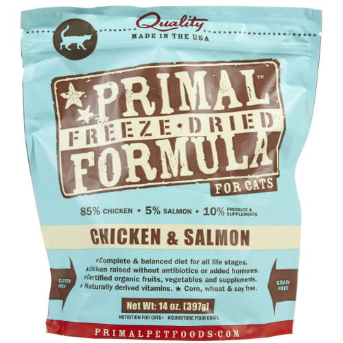 Primal - Chicken & Salmon Nuggets Grain-Free Freeze Dried Cat Food, 14oz