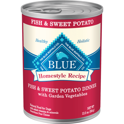 Blue Buffalo - Homestyle Recipe Fish & Sweet Potato Dinner Canned Dog Food