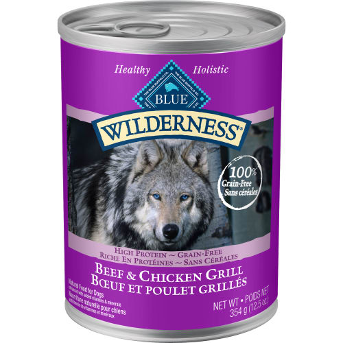 Blue Buffalo - Wilderness Beef & Chicken Grill Grain-Free Canned Dog Food