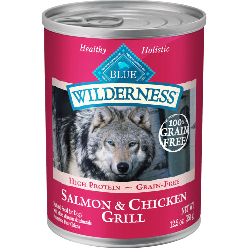 Blue Buffalo - Wilderness Salmon & Chicken Grill Grain-Free Canned Dog Food