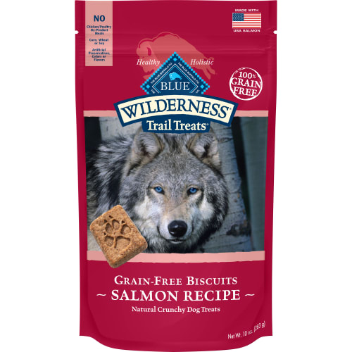 Blue Buffalo - Wilderness Trail Treats Salmon Recipe Grain-Free Dog Treats, 10oz