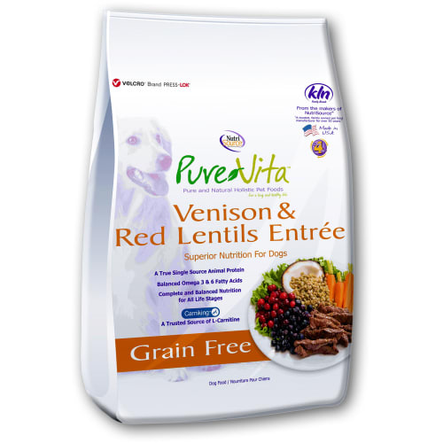 Pure Vita - Venison & Red Lentils Entree Grain-Free Dry Dog Food