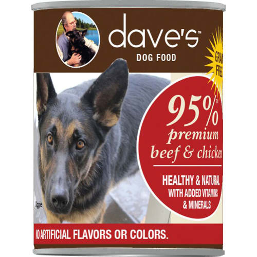 Dave's Pet Food - 95% Premium Beef & Chicken Grain-Free Canned Dog Food
