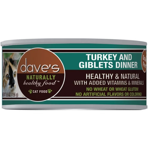 Dave's Pet Food - Naturally Healthy Turkey & Giblets Dinner Grain-Free Canned Cat Food