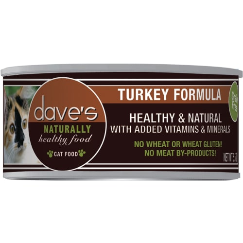 Dave's Pet Food - Naturally Healthy Turkey Formula Grain-Free Canned Cat Food