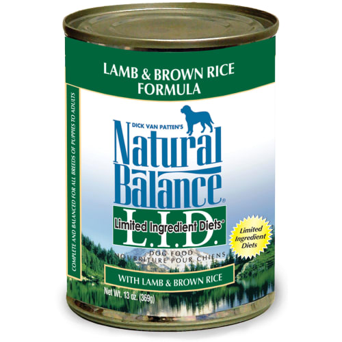 Natural Balance - Limited Ingredient Diets Lamb Meal & Brown Rice Formula Grain-Free Canned Dog Food