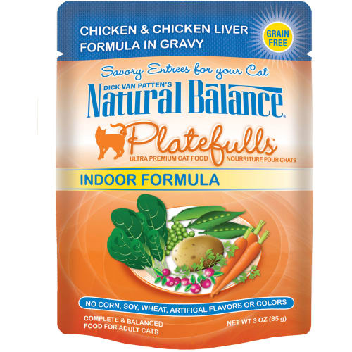 Natural Balance - Platefulls Chicken & Chicken Liver Formula In Gravy Grain-Free Cat Food Pouch